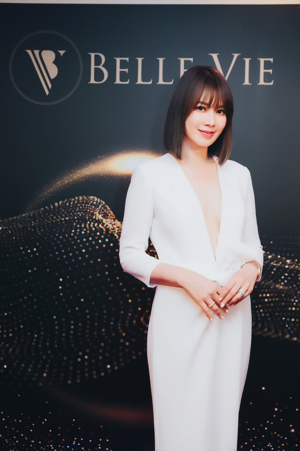 Melody出席Belle Vie細胞抗衰spa館開幕活動。圖/Belle vi