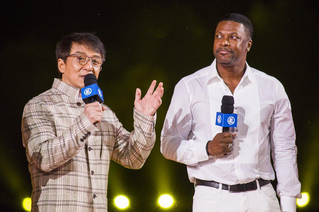 成龍與老搭檔克里斯塔克合演「尖峰時刻」系列三部曲曾在全球狂賣。圖/成龍集團提供