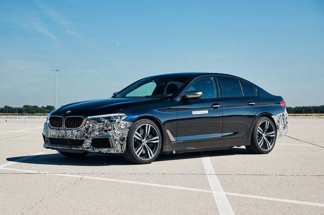 BMW 5 Series Power BEV純電測試車。 摘自BMW