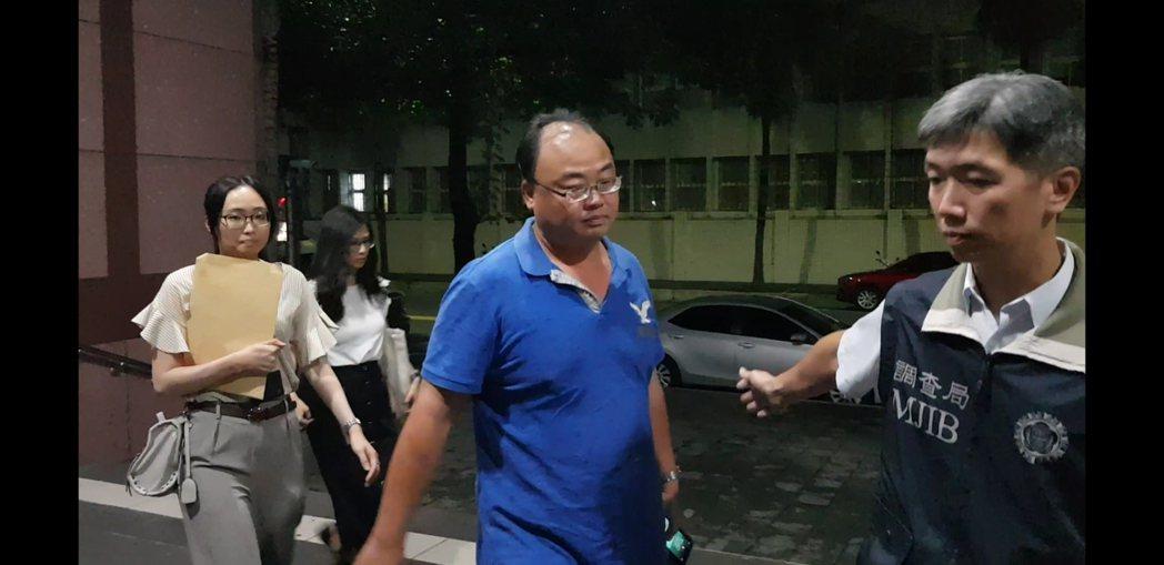 如興紡織財務副總徐仲榮50萬元交保。 記者張宏業/攝影