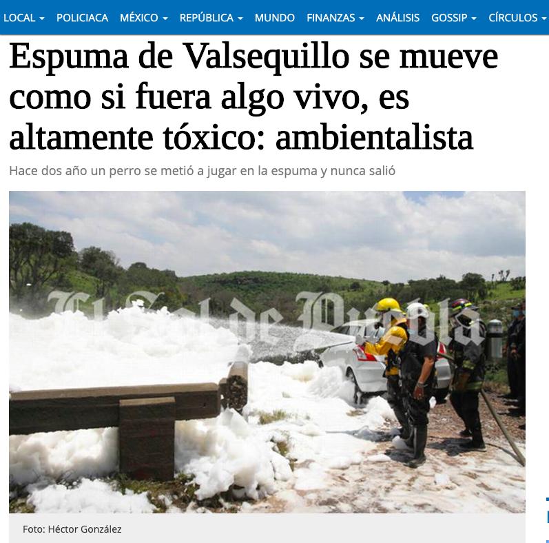 墨西哥一名男子不慎跌入受清潔劑汙染的「泡泡溪」中,五天後被找到時已身亡。取自El...