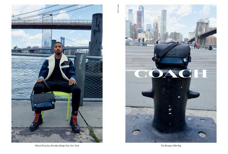 品牌形象代言人Michael B. Jordan在布魯克林大橋拍攝COACH秋季...