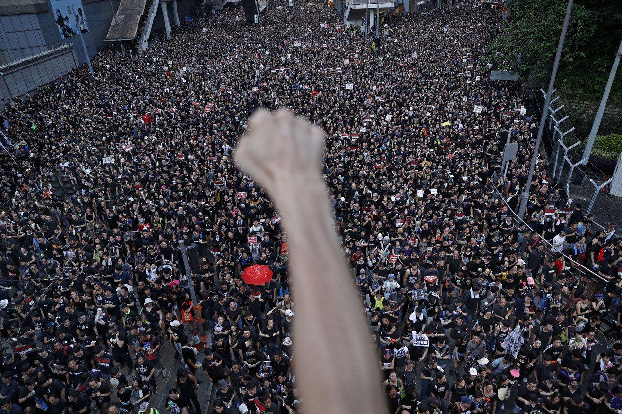 香港反送中運動一波接一波似乎沒有緩和的跡象。(路透)