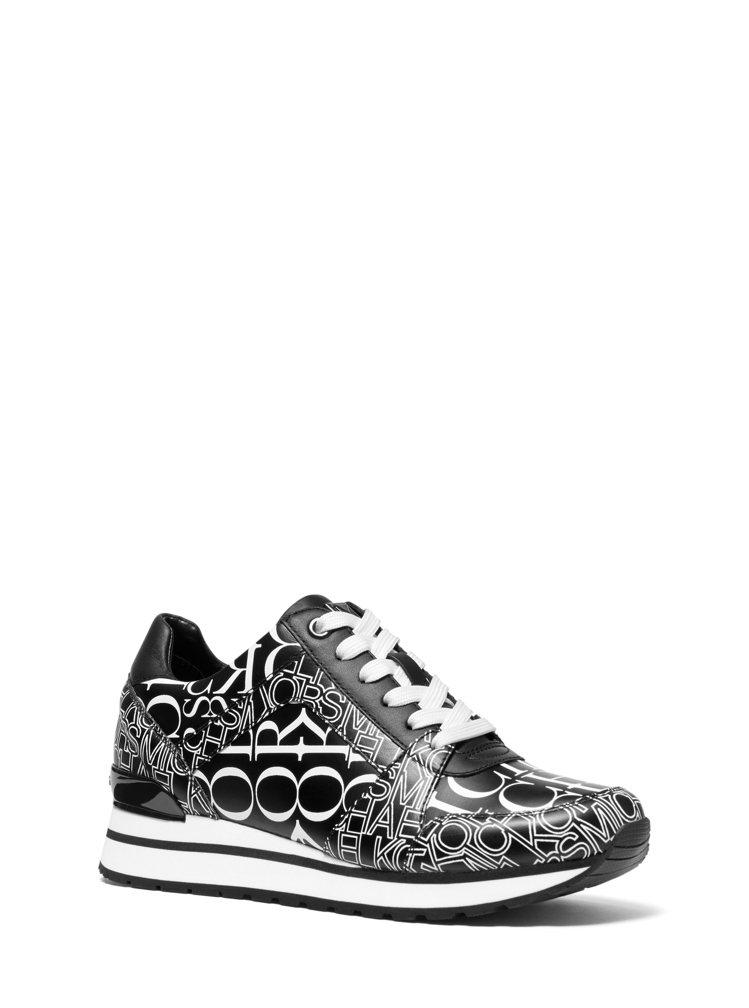 MMK黑白文字圖騰休閒鞋,售價7,900元。圖/MICHAEL KORS提供
