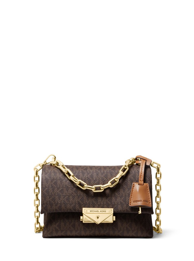 CECE系列駝色迷你鍊包,售價13,200元。圖/MICHAEL KORS 提供