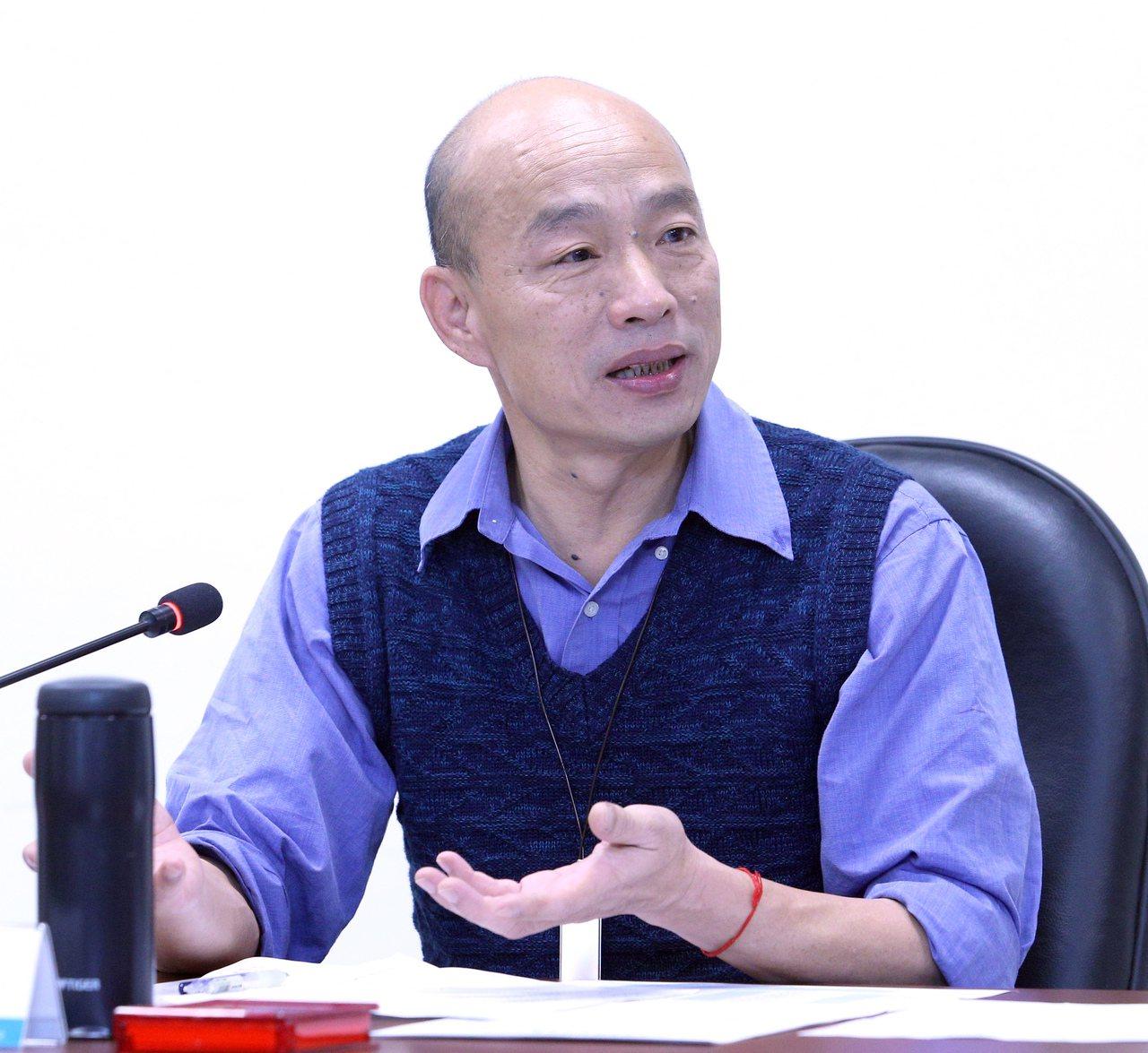 高雄市長韓國瑜今晚接受TVBS「少康政情室」專訪表示,假如郭台銘選擇參選,那藍軍...
