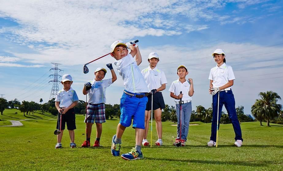 2019 LEXUS兒童高爾夫賽熱烈開打。 圖/和泰汽車提供
