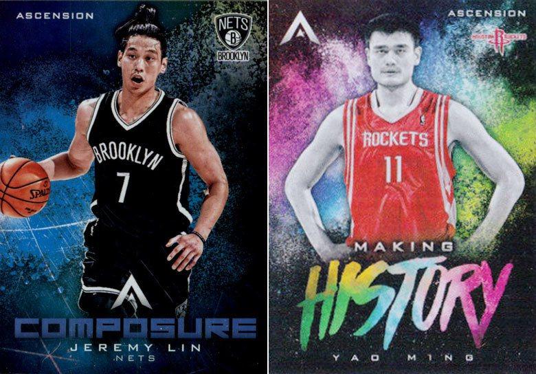 第一位中國球星姚明(右)和第一位台裔球星林書豪(左)在NBA的漫漫銀河之中,職業...