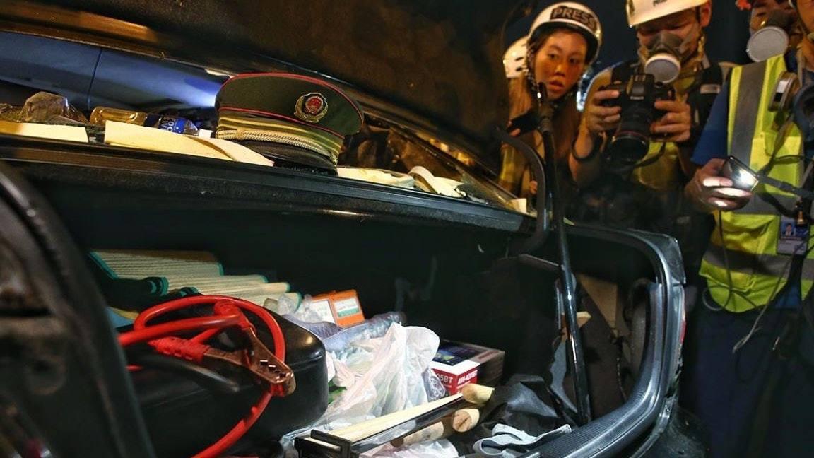 大陸官媒環球時報表示,被發現的「軍帽」已停用數十年。取自香港01