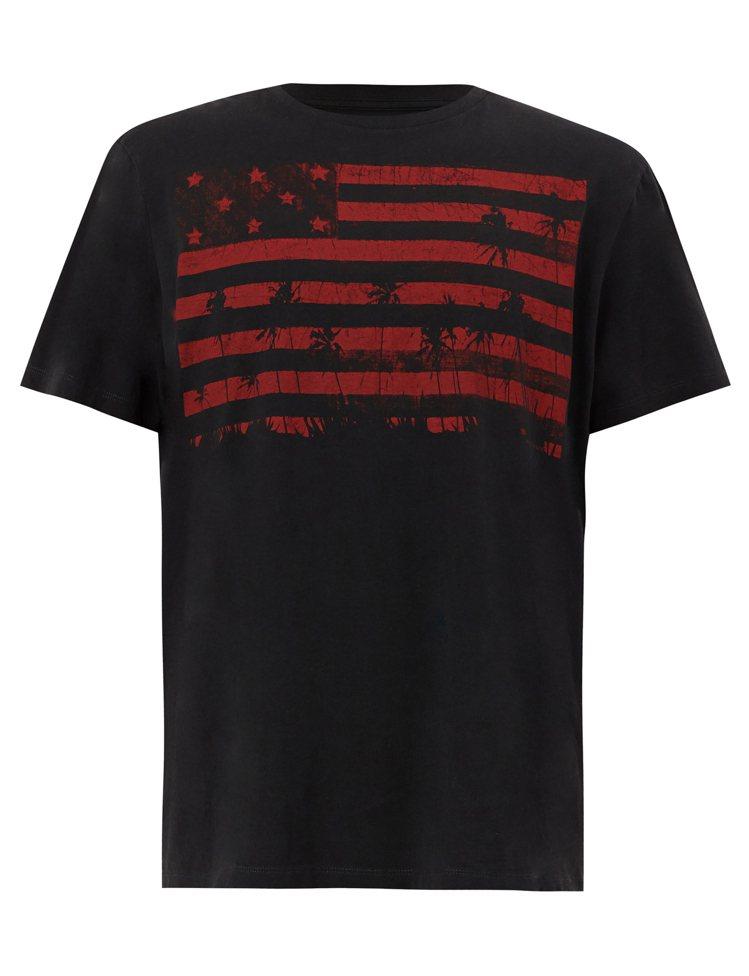 AllSaints Stars塗鴉上衣,1,800元。圖/AllSaints提供