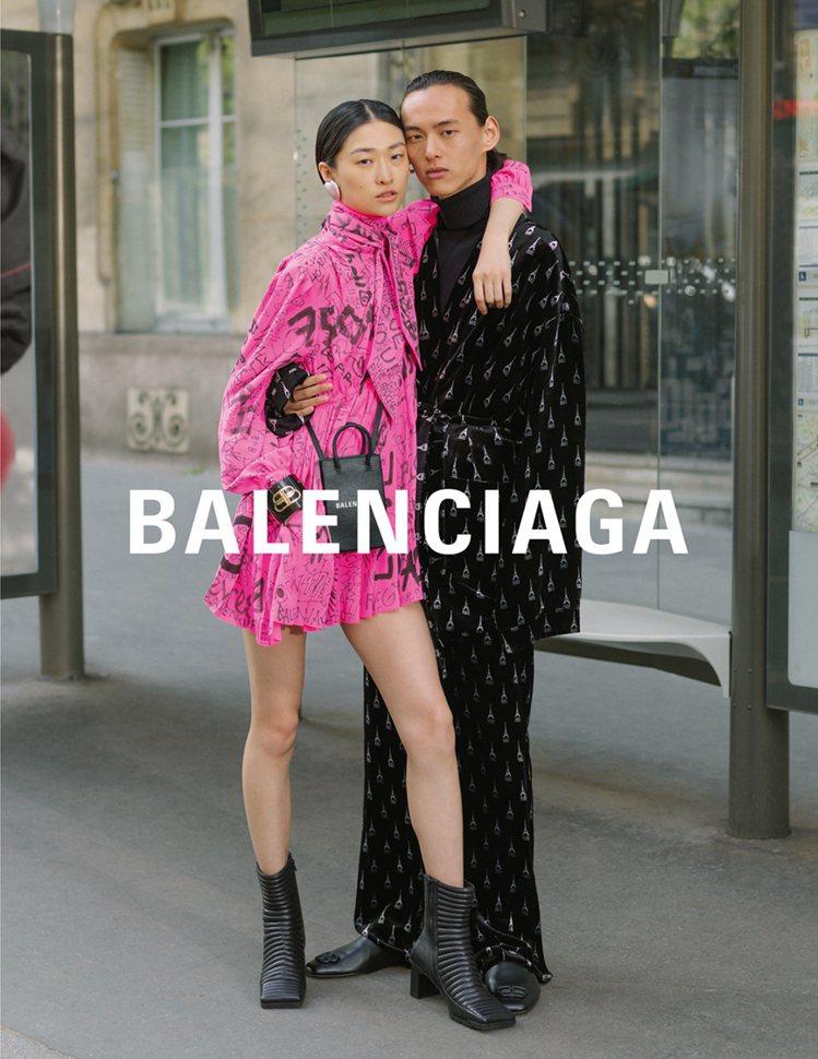 BALENCIAGA秋冬廣告再度找上素人入鏡,這回找的是情侶們於巴黎街頭展示最新...