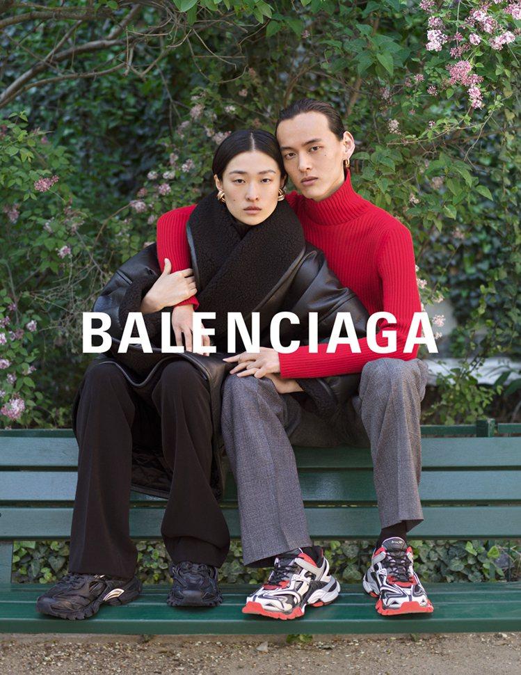 素人情侶入鏡BALENCIAGA秋冬廣告。圖/BALENCIAGA提供
