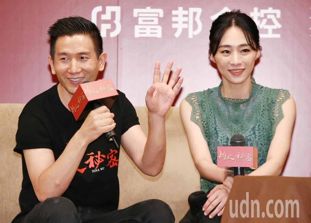 灼人秘密電影主題講座,談論新世代下女性的覺醒與創作,導演趙德胤(左)與女主角吳可