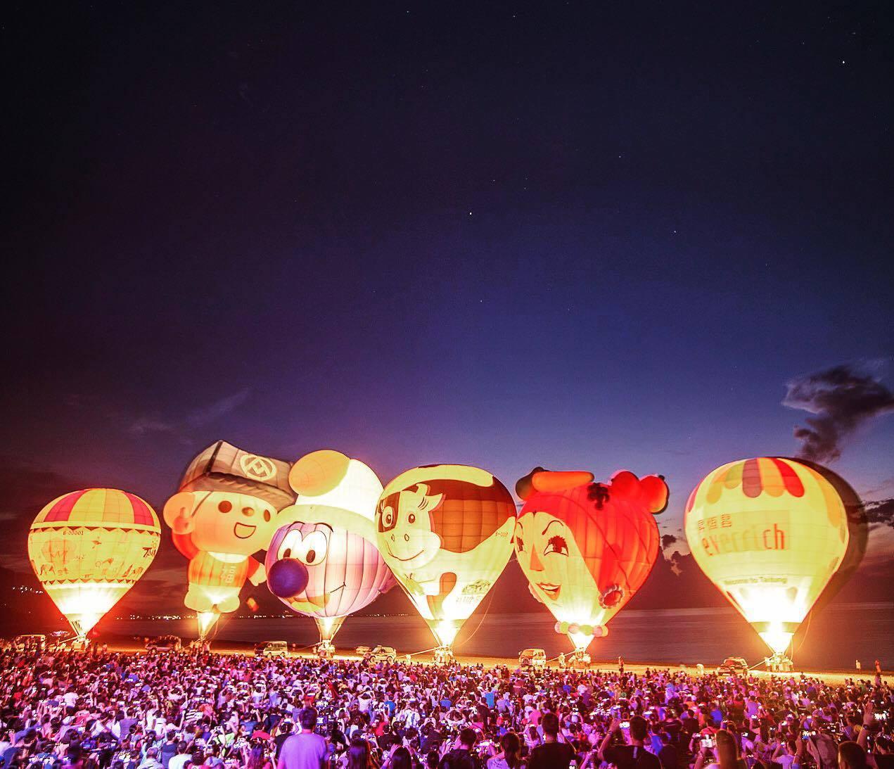 台灣國際熱氣球嘉年華從6月29日到8月12日間展開。圖/摘自台灣國際熱氣球嘉年華...