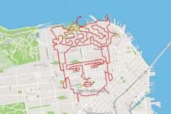 用跑的畫畫!整個城市都是我的畫布