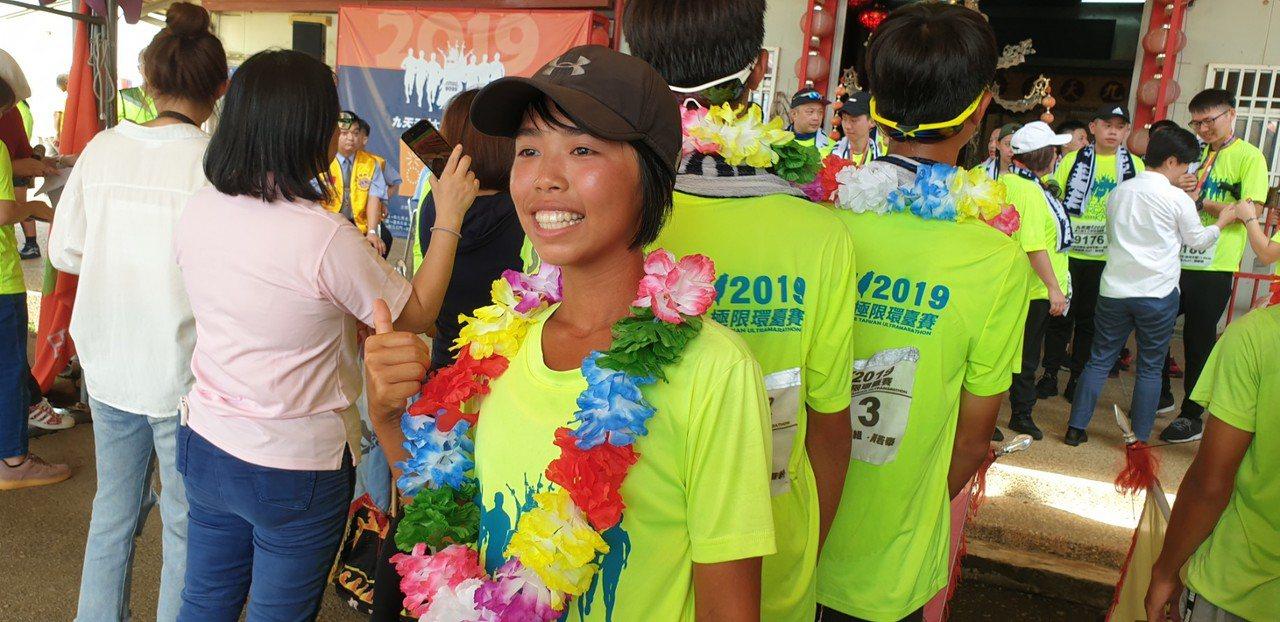 第7屆九天盃太子極限環台賽昨天完賽,戴心瑜是唯一女選手。 記者游振昇/攝影