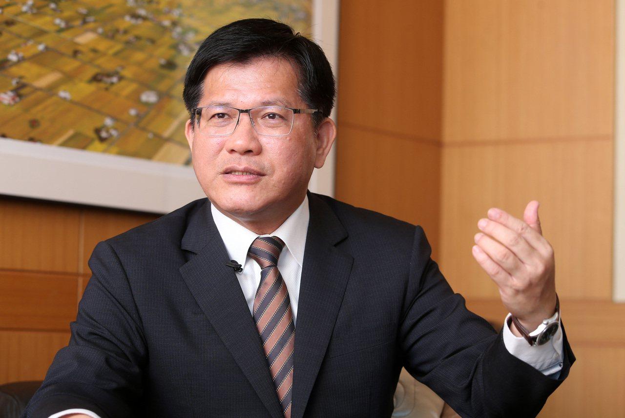 交通部長林佳龍。記者胡經周/攝影