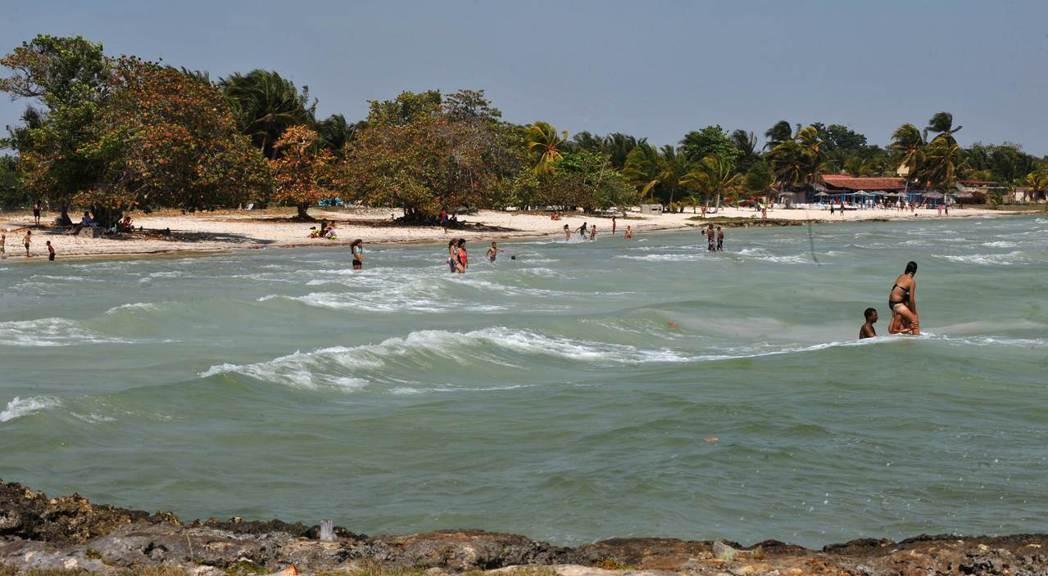 古巴豬灣的普拉雅拉加海灘。1961年豬灣事件時,此地是反卡斯楚的古巴人搶灘地點之...