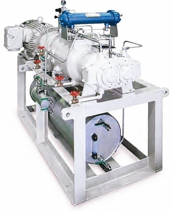 適用於排放粉類或固體顆粒,大型排液罐與氣冷用中冷器機型。 大晃/提供