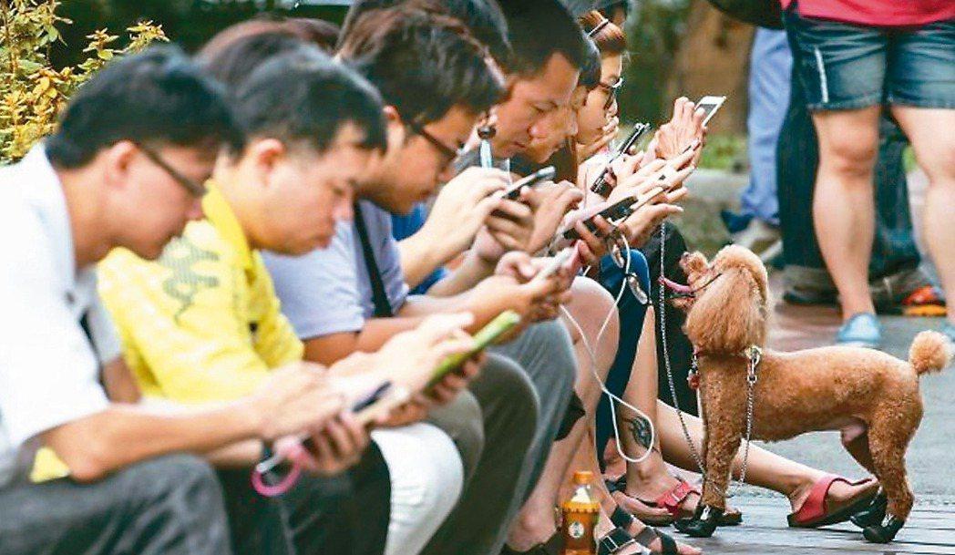現代人常低頭滑手機,固定同一姿勢,容易肩頸痠痛外,更可能造成椎間盤突出。 圖╱聯...