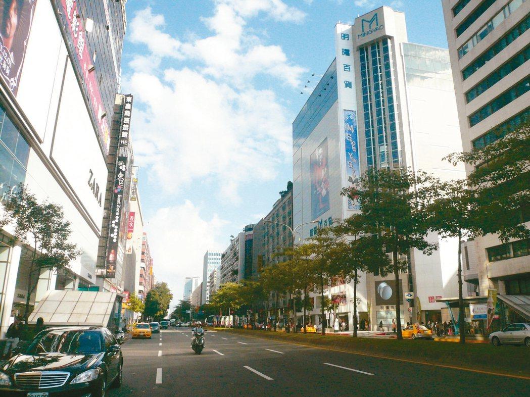 忠孝東路四段店面租金下調一成以上,空置率已大幅降低。 記者游智文/攝影