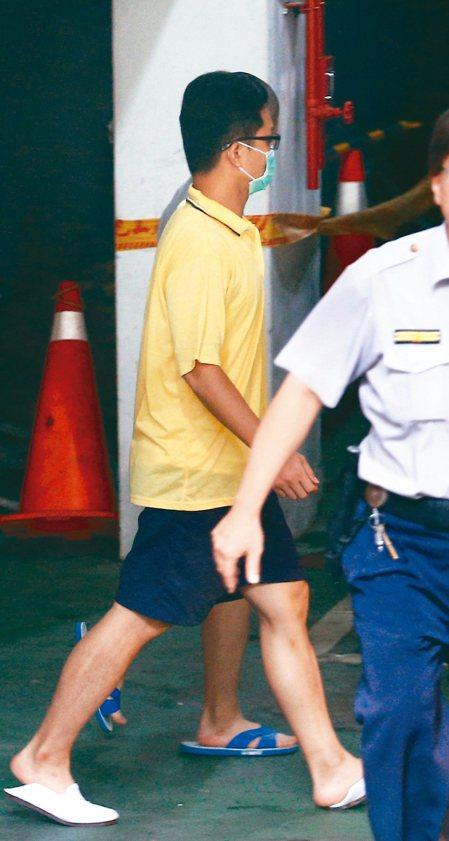 台北地檢署今早提訊張恒嘉釐清案情。 記者蘇健忠/攝影