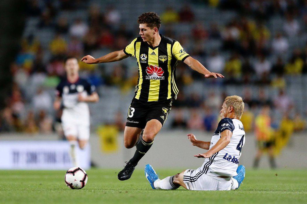 圖為威靈頓鳳凰隊Liberato Cacace。 圖/取自Wellington Phoenix FC