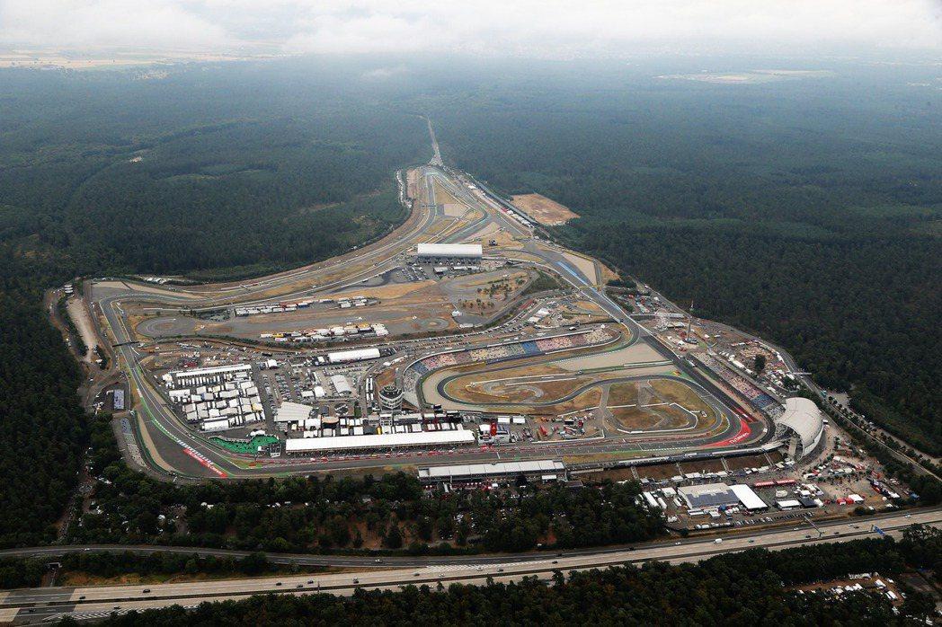 德國Hockenheimring霍根海姆賽道。 摘自F1