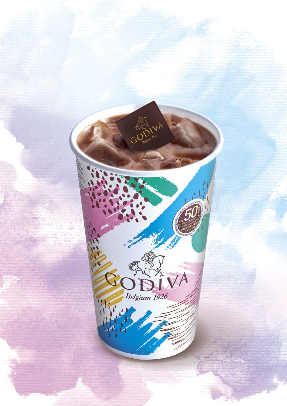 小7限定版「GODIVA經典冰可可」每杯售價119元。圖/統一超商提供