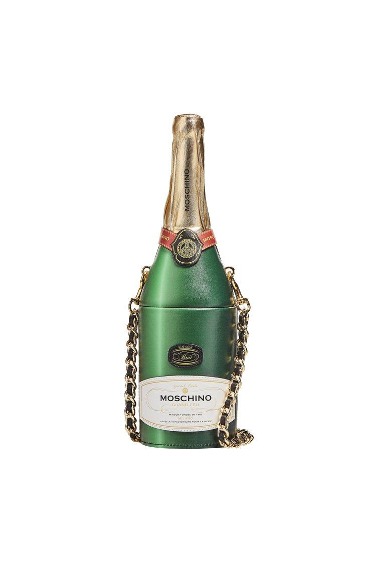 香檳鍊帶包,38,800元。圖/Moschino提供