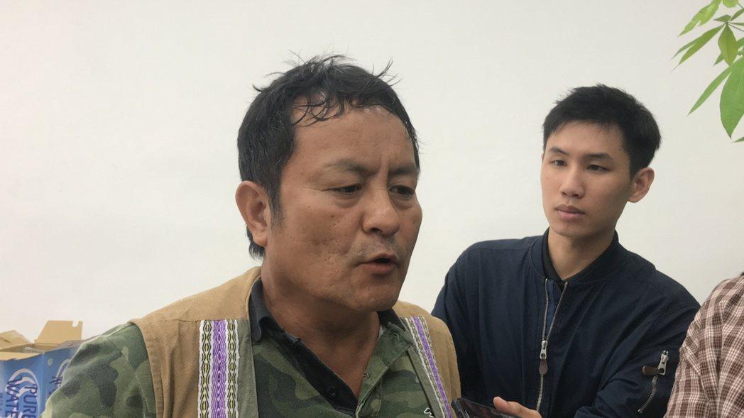 玻士岸部落會議主席田欽賢呼籲,政府應趕快跟部落諮商。記者王思慧/攝影