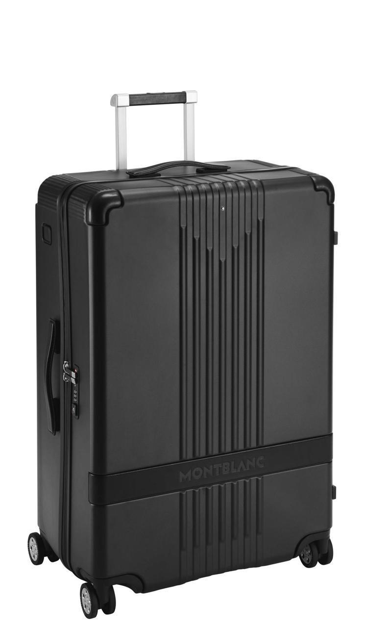 萬寶龍#MY4810系列黑色大型行李箱,31,400元。圖/Montblanc提...