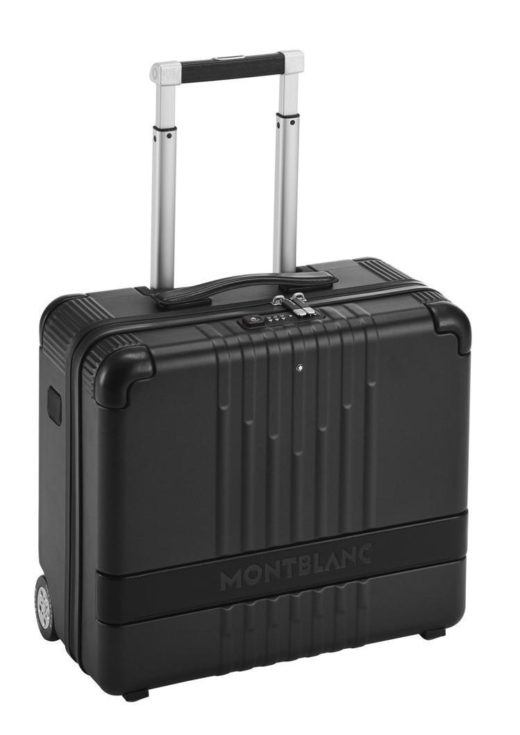 萬寶龍#MY4810系列黑色2輪登機箱,23,000元。圖/Montblanc提...