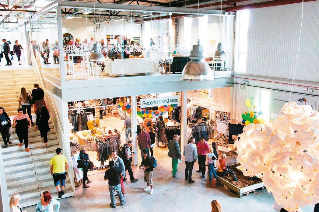 瑞典ReTuna為全球第一間二手百貨公司。 圖/取自ReTuna官網