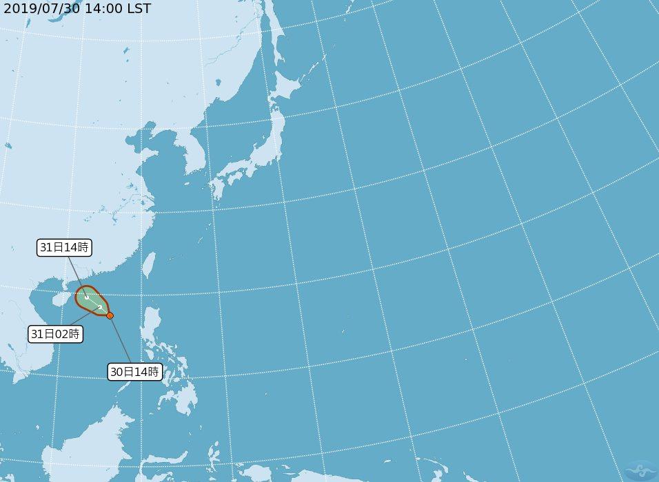 位於南海的低氣壓今(30日)下午增強為熱帶性低氣壓,預計24小時內有機會成為今年...