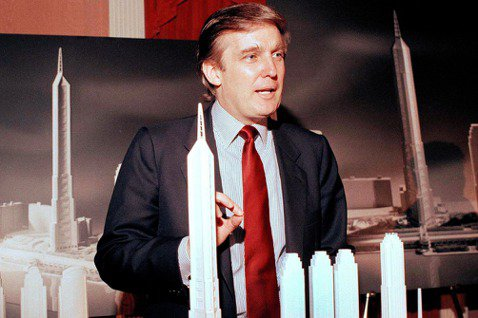 當總統前的房地產大亨川普。1985年,川普曾計畫要開發曼哈頓西區,建造一座「電視...