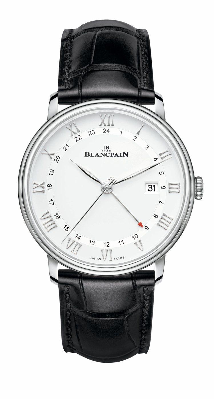 寶珀Villeret系列GMT日期腕表,不鏽鋼表殼,100小時動力儲存,約38萬...