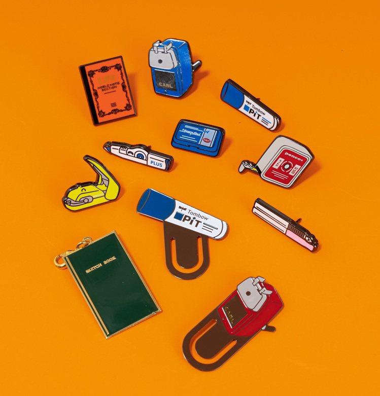 誠品「理想的文具」獨家限量扭蛋贈品,超過10樣經典文具化身超迷你徽章、書籤、手帳...