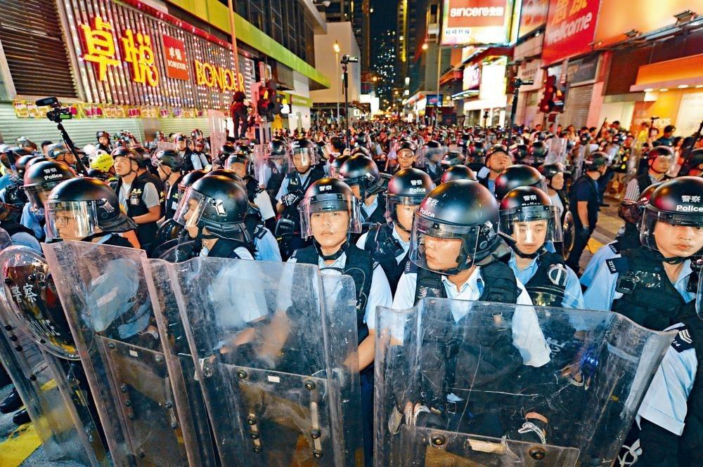 惠譽國際指出,香港近期出現的示威活動,相信會對GDP增長預期構成風險。圖:星島日...