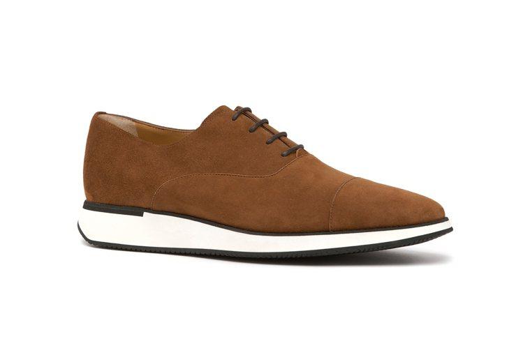 a.testoni棕色麂皮休閒鞋,35,800元。圖/a.testoni提供