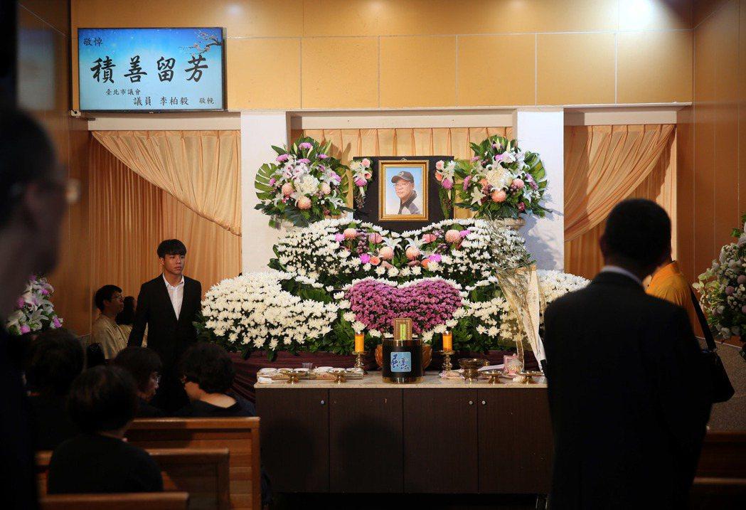三立導演林鷹告別式在台北第一殯儀館舉行。記者邱德祥/攝影