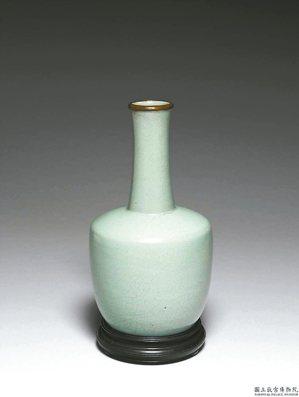 汝窯青瓷紙槌瓶 圖/故宮提供