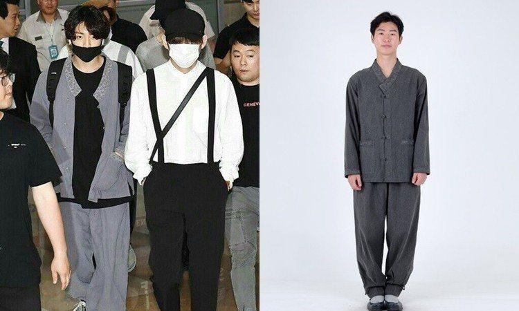 柾國穿著千元有找的改良韓服式套裝,造成品牌官網一度癱瘓。圖/擷自instagra...