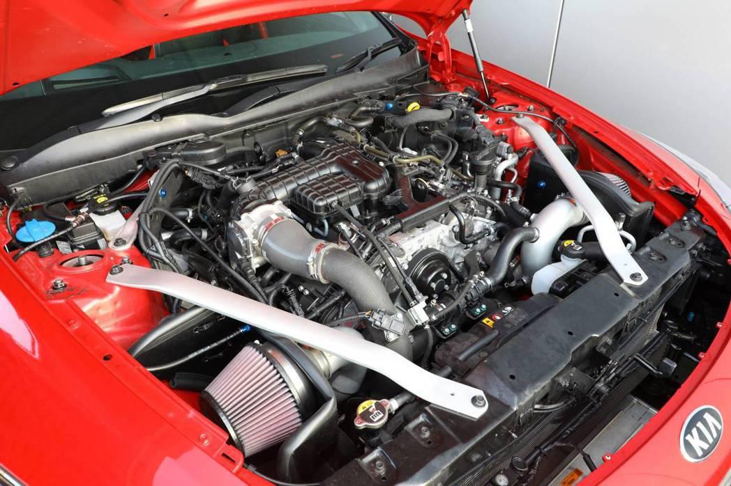 Kia Stinger GT420引擎並沒有重度改裝。 摘自Kia