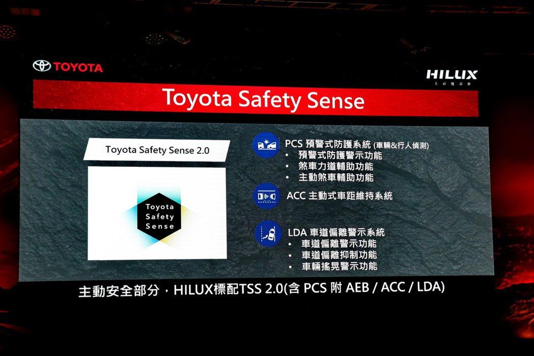 配備TSS主動安全科技。 記者陳威任/攝影
