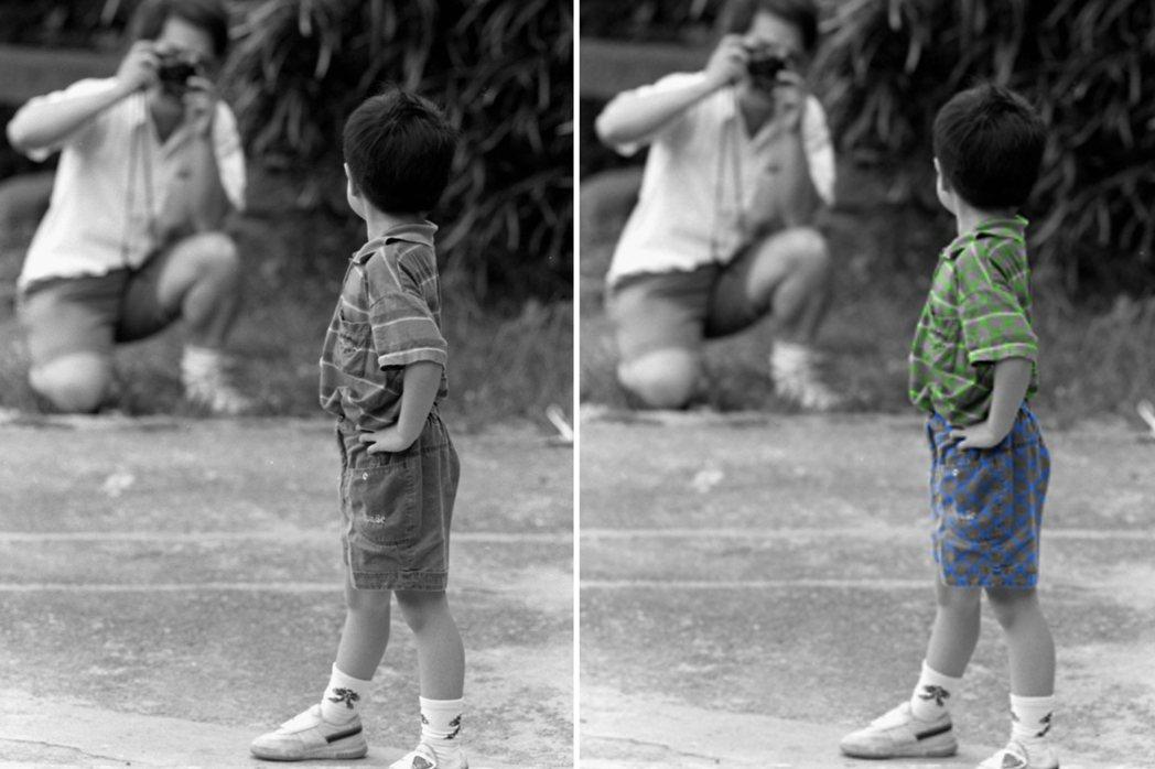 小編致敬作之黑白原始照vs.上色ing。 圖片來源/Oops!