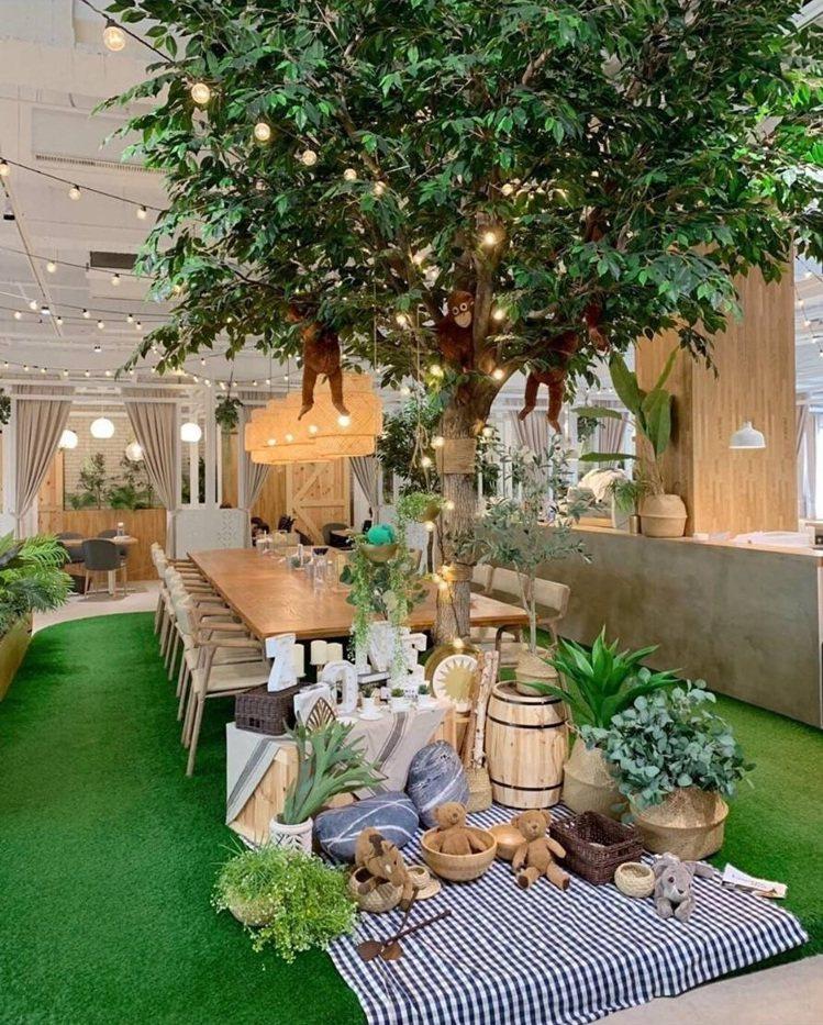 「弄咖啡親子餐廳」貼心規劃遊戲區讓家長與孩子同樂。IG @yaki530530提...