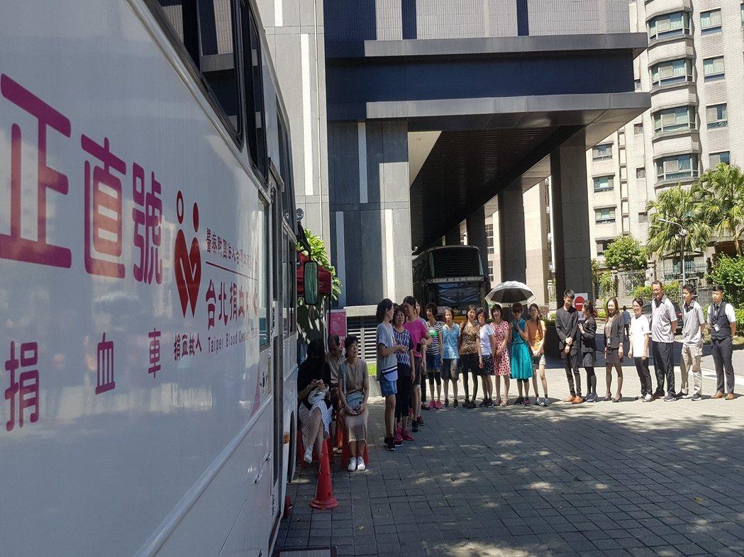 截至今天上午台北地區血液庫存已不足5天,其中A型血更只剩3.8天用量。 圖/大新...