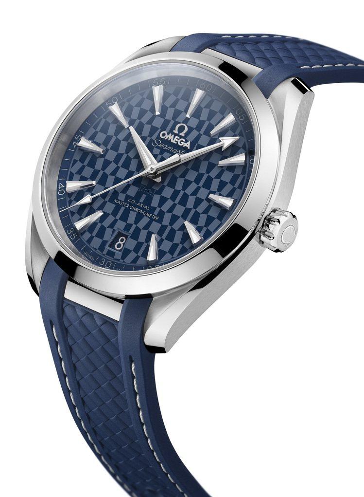 歐米茄海馬Aqua Terra東京2020限量版腕表,不鏽鋼表殼搭配藍色拋光陶瓷...
