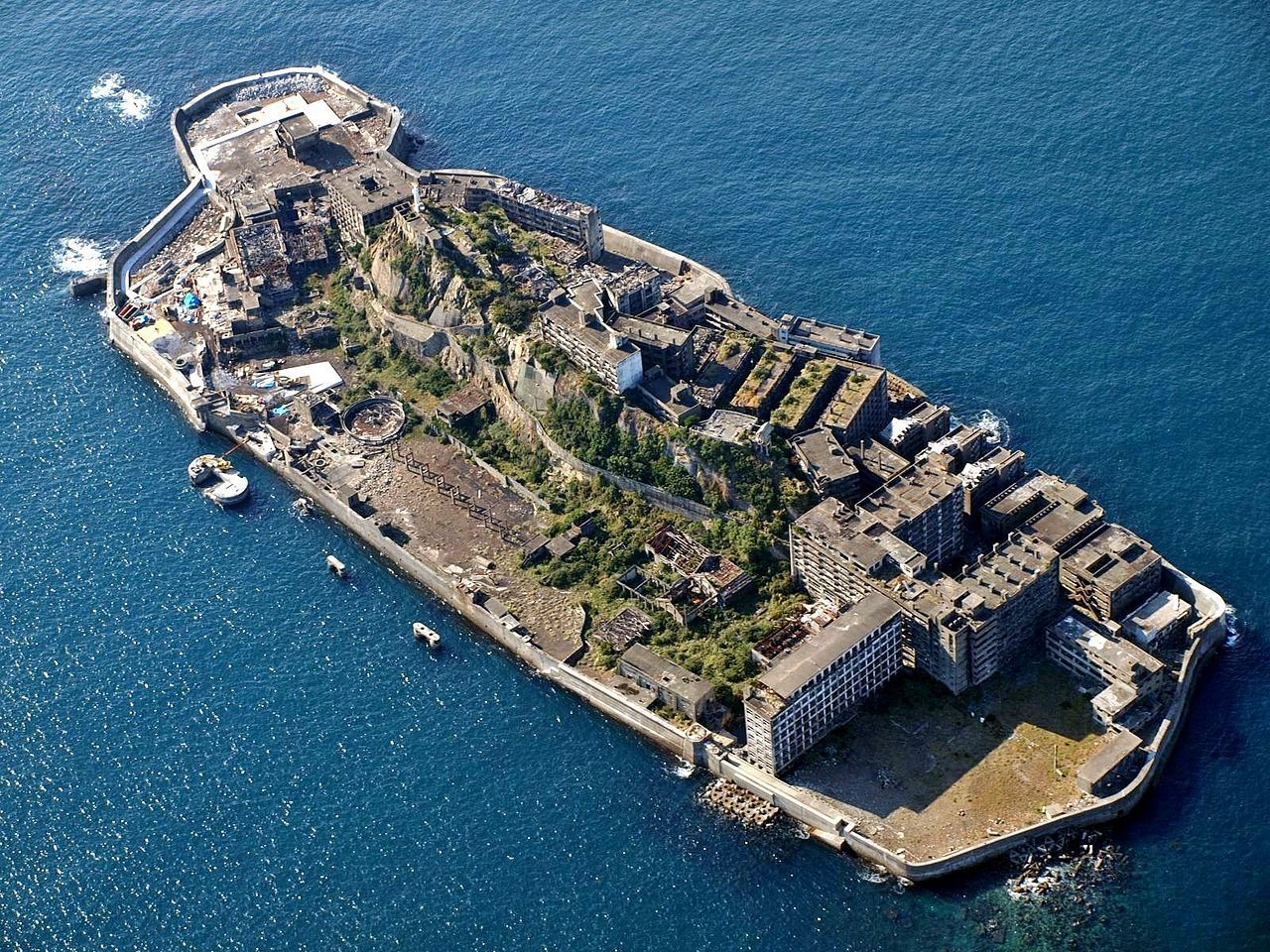 軍艦島。圖/取自維基百科